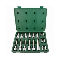 "18PC. 1/4"" & 1/2"" DR. HEX BIT SOCKET SET (METRIC) - SATA 09053"