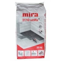 White tile glue with improved adhesion Mira 3110 unifix 25 kg