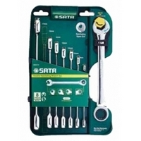 8PC. Combination gear wrenches set komplekts SATA 08007A