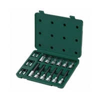 "18PC. 1/4"" & 1/2"" DR. BIT SOCKET SET (METRIC) - SATA 09051"