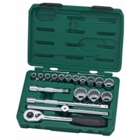 "18PC 1/2""DR SOCKET SET (METRIC) - SATA 09204"