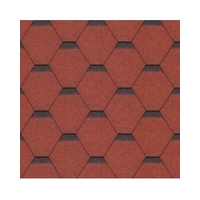 Bitumen Shingles STANDARD SONATA HEXAGONAL 6722 red