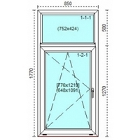 Kitchen PVC window Stalinka