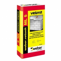 Coloured masonry mortar Weber Vetonit ML 5 25kg