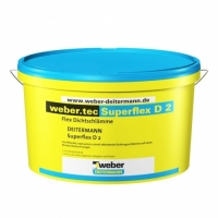 Cement-based waterproofing slurry Weber Superflex D2, 20kg